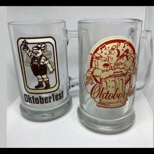 Vintage Oktoberfest Beer Glasses - Lot Of 2